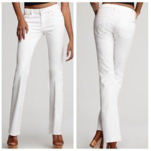 7 For All Mankind White Kimmie Bootcut Jeans Sz 28